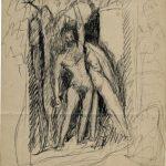 Melli, Studio per figure tra gli alberi, 1906